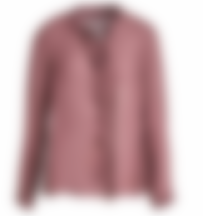 Transit P 252 Ruffle Neck Blouse In Old Rose