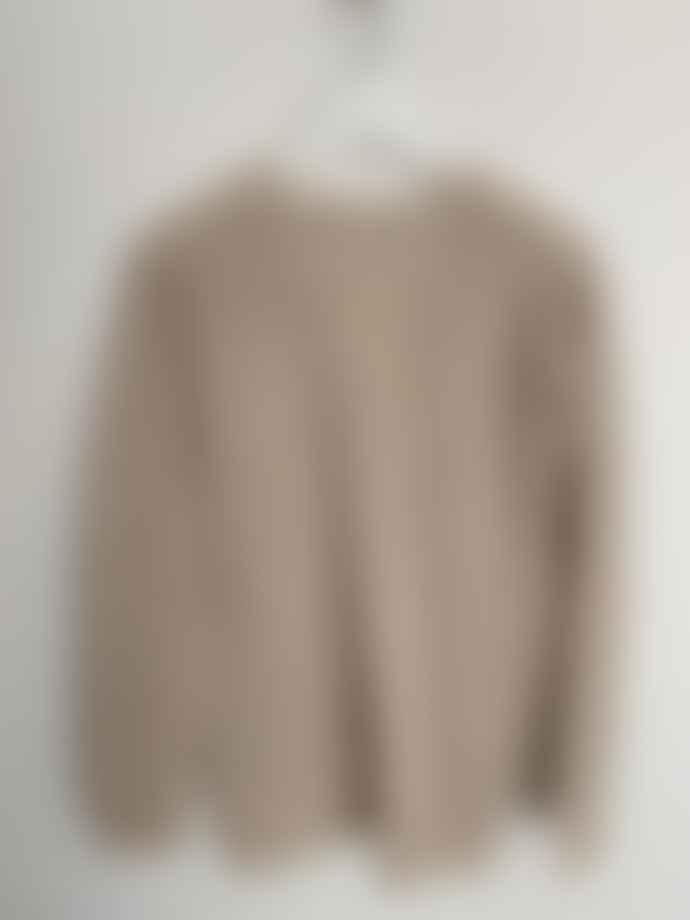 Transit 30609 Cashmere V Neck Sweater Sand