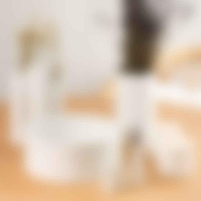 Rader Set of 3 Mini White Porcelain Room Poetry Vases
