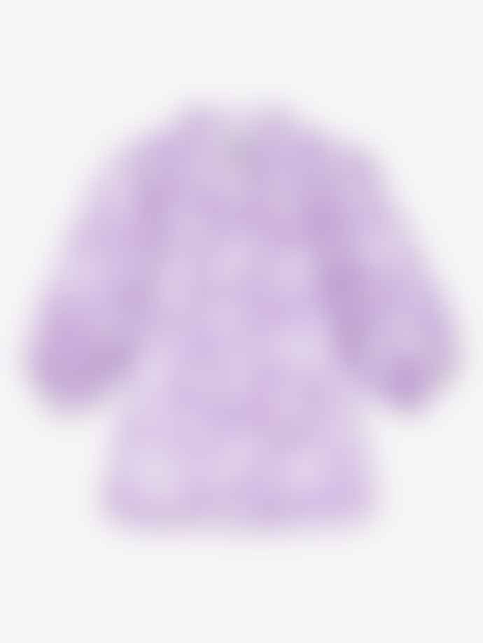Ganni Heavy Satin Shirt Violet Tulip