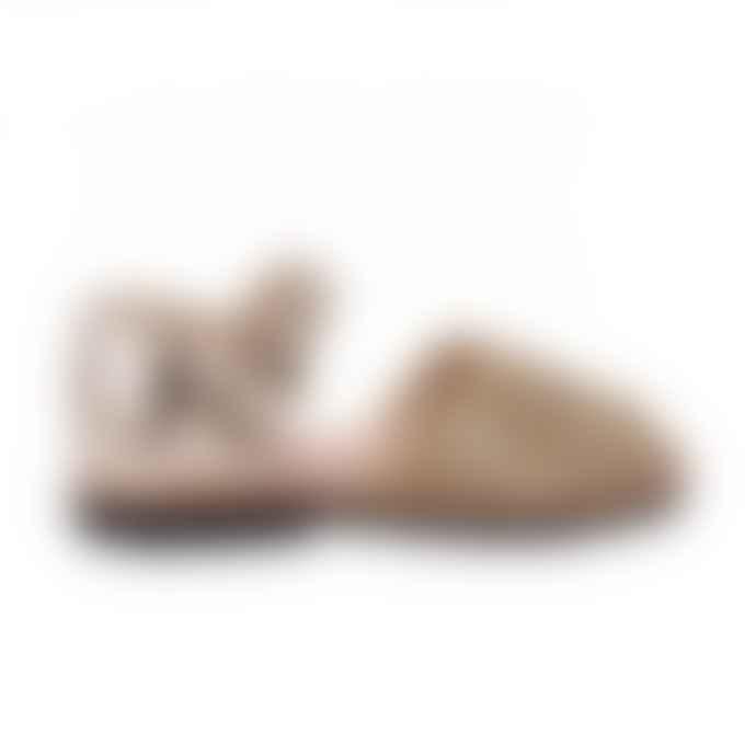 Minorquines Gold Glitter Frailera Sandal