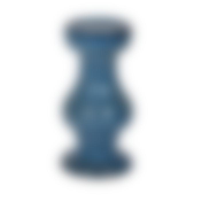 Coach House Blue Ceramic Candle Holder
