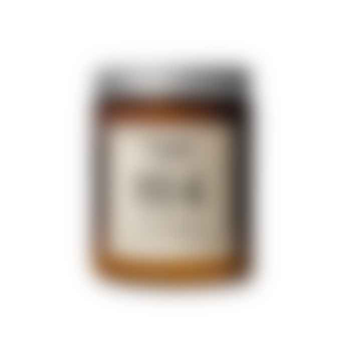 Peach vanilla candle with strawflowers in a vintage Luminarc Domino Signature Black stem rhine wine glass. Il Est Des N\u00f4tres