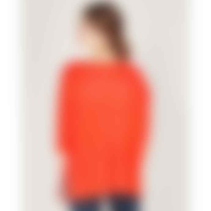 Absolut Cashmere Coral Turtleneck Around Poncho