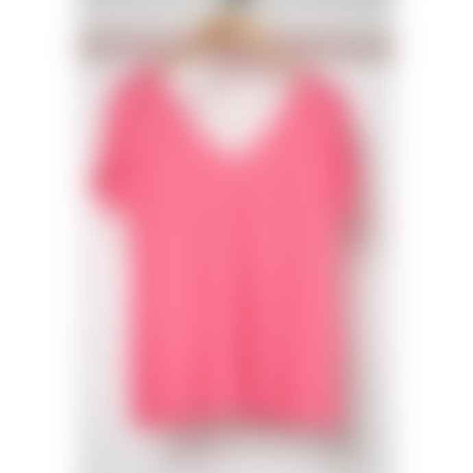 Absolut Cashmere Col V Double Mc Evase Zomer T-shirt