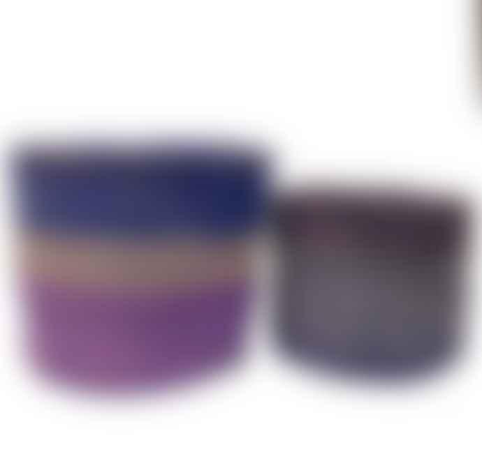 Hadithi Set of 2 Purple Baskets