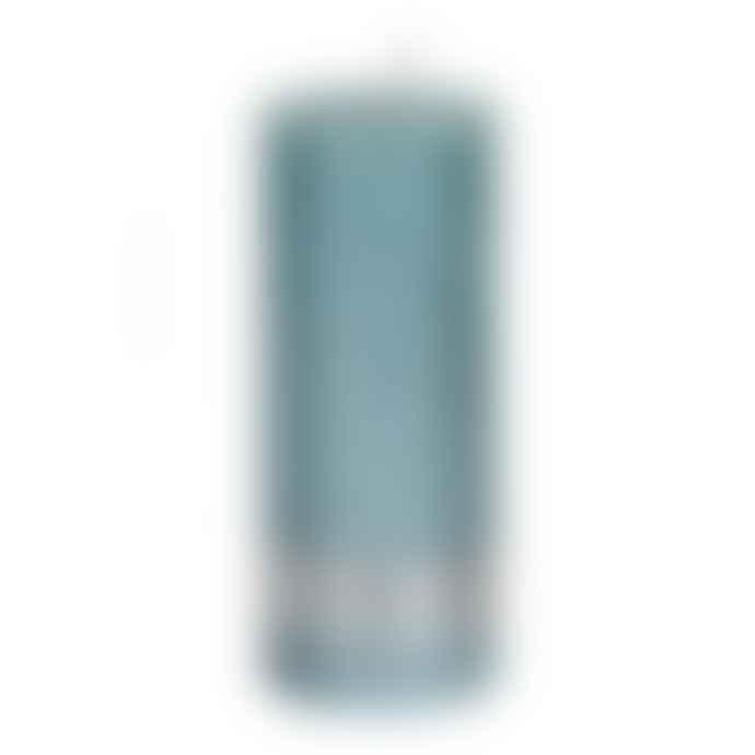 PTMD Metallic Mint Green Pillar Candle 12x5cm