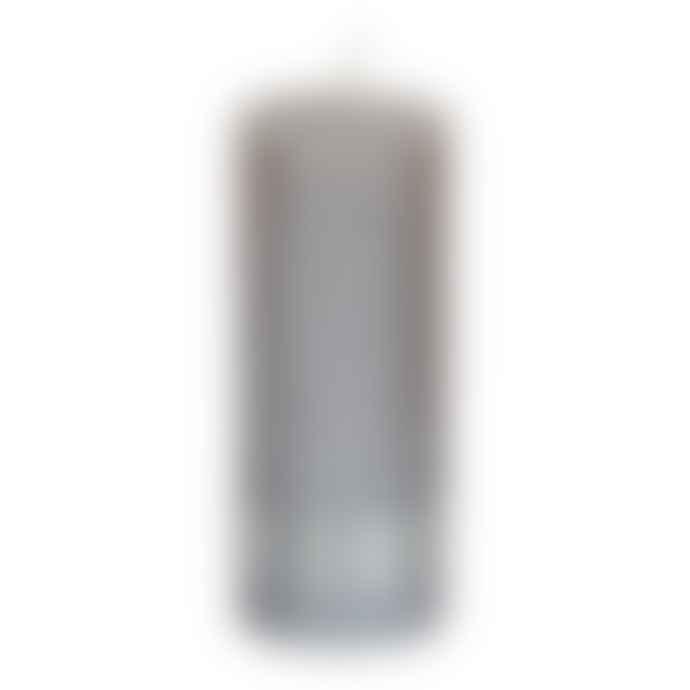 PTMD Metallic Taupe Pillar Candle 12x5cm