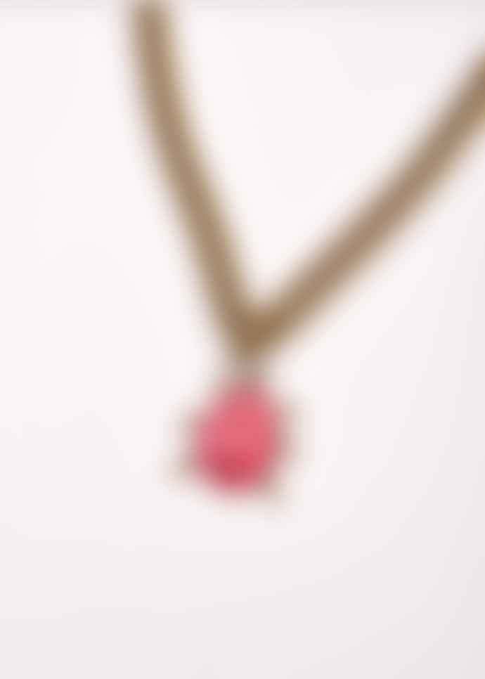 Essentiel Antwerp Pink Beetle Chain Necklace