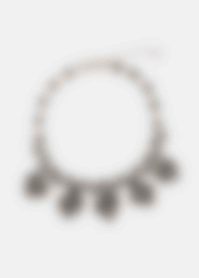 Essentiel Antwerp Black Rhinestone Necklace
