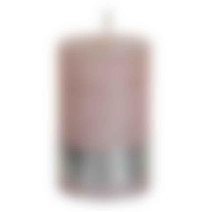 PTMD Metallic Pink Pillar Candle 8x5cm