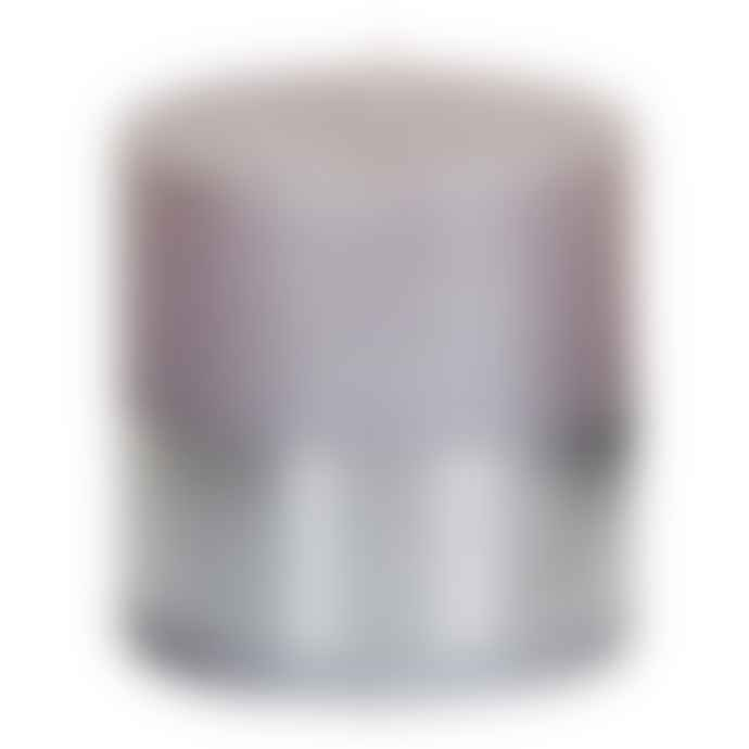 PTMD Metallic Soft Pink Block Candle 10x10cm
