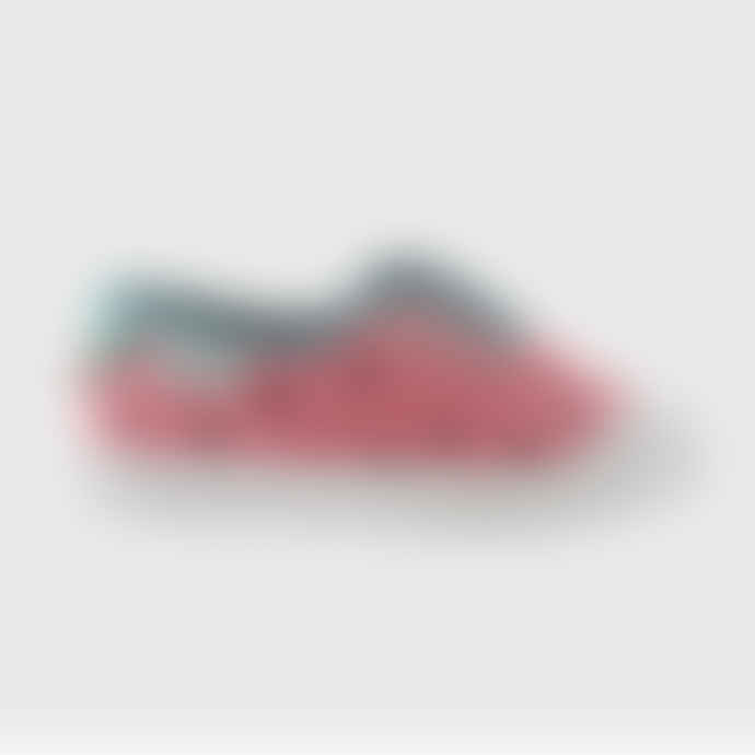 Victoria Washed Canvas Plimsoll Strawberry Print