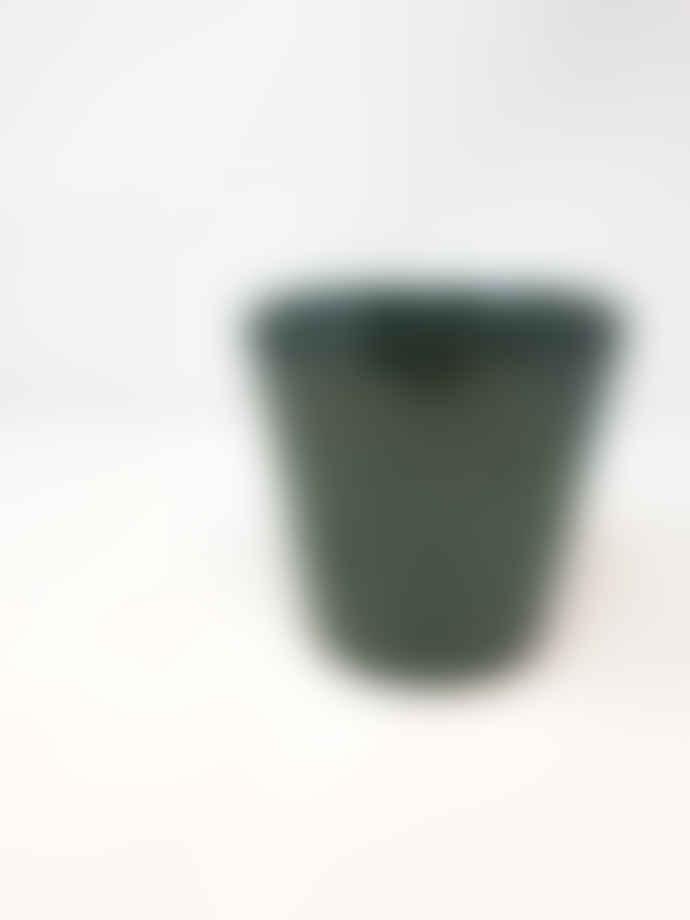 Forest Large Dark Aqua Green Ceramic Pot