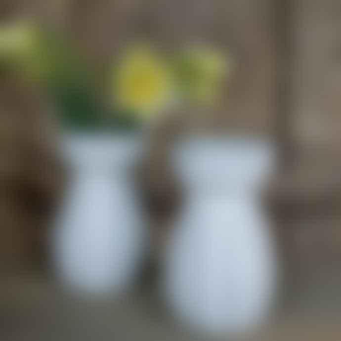 livs Eve Face Ceramic White Vase - Short
