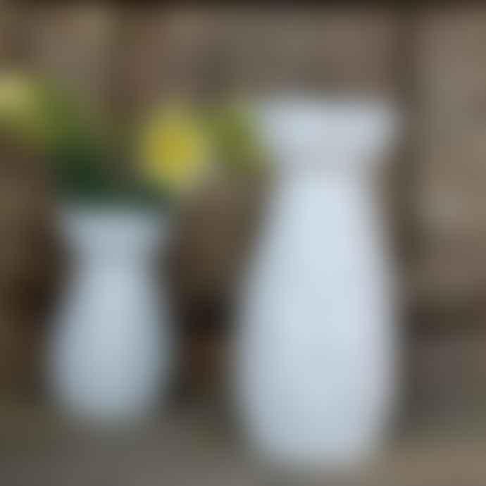 livs Eve Face Ceramic White Vase - Tall 25cm