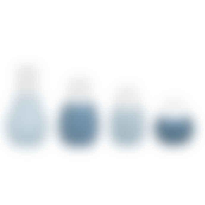 Rader Set of 4 Mini Vases - Blue