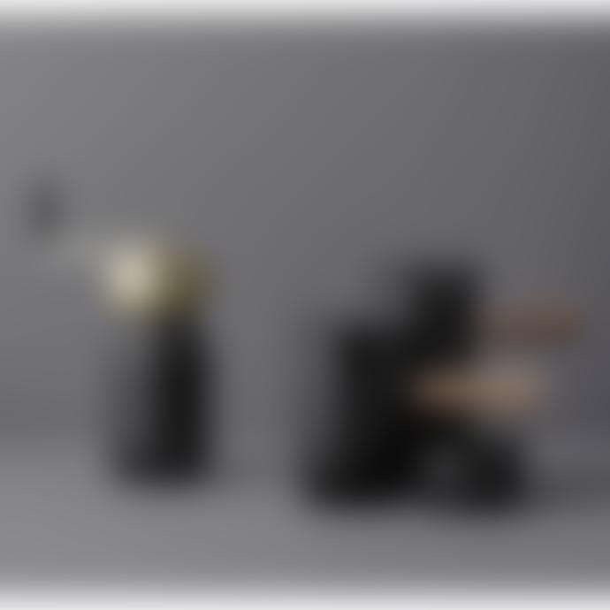 Stelton Sugar bowl  W: 19,6 CM L: 11 CM H: 18,4 CM steel with black Teflon coated lid