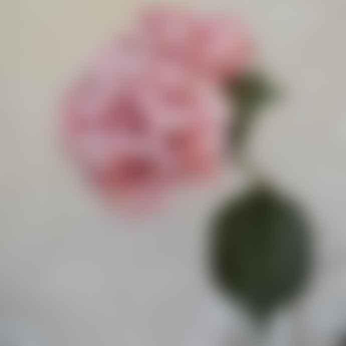 Gisela Graham Pair of Giant Hydrangea Stems - Antique Pink