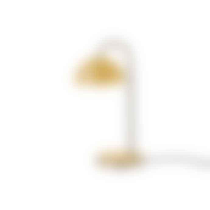 Leitmotiv Matt Ochre Metal Dome Table Lamp