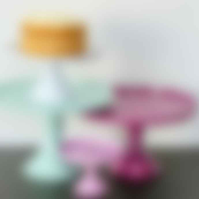 Rice D K  Extra Small Pink Melamine Cake Stand