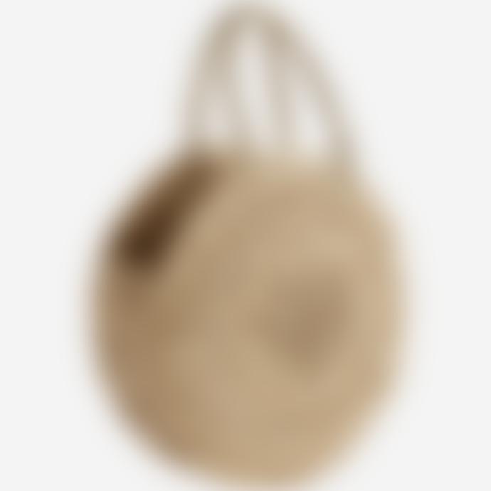 Madam Stoltz Round Straw Bag