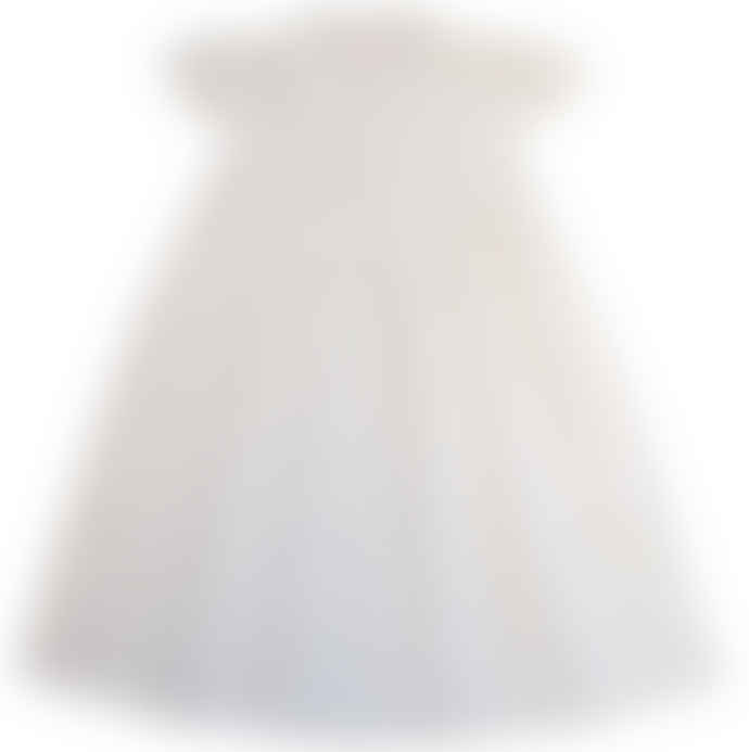 Powell Craft Girls White Cotton Capped Sleeve Nightdress with Seed Pearls