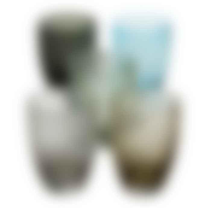 Italesse Vertigo Handcrafted Glass Tumbler Black White