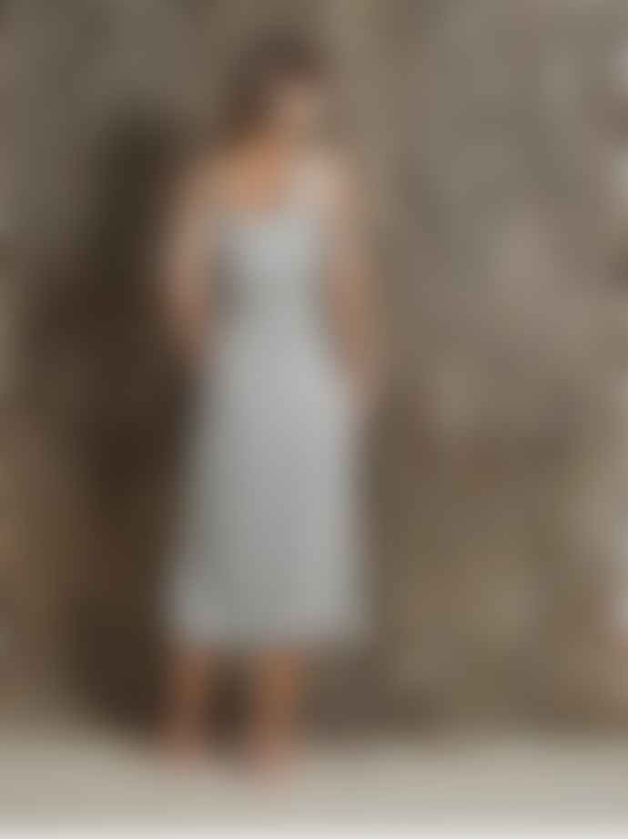 Indi & Cold Striped Square Neck Dungaree Dress