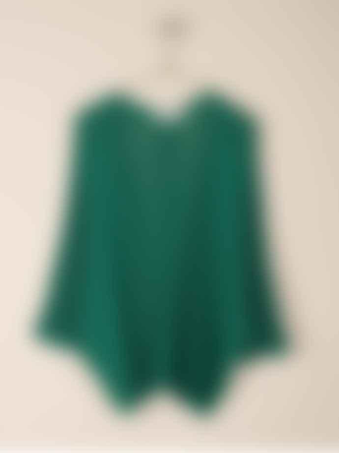 Indi & Cold Emerald Green Cap Sleeved Cardigan
