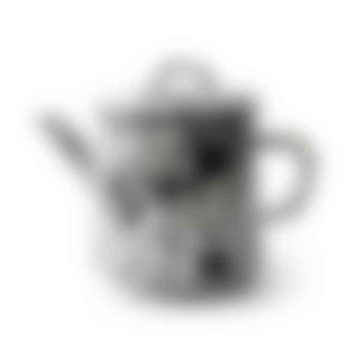 Bornn Black and White Teapot