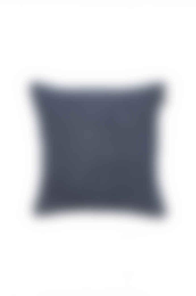 Denim Blue Linen Crinkle Cushion