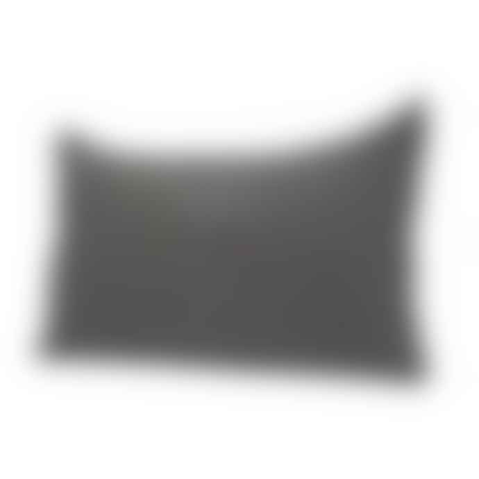 Harmony Textiles Cushion Cover 40x60cm in Grey Linen with Fringes at the Ends