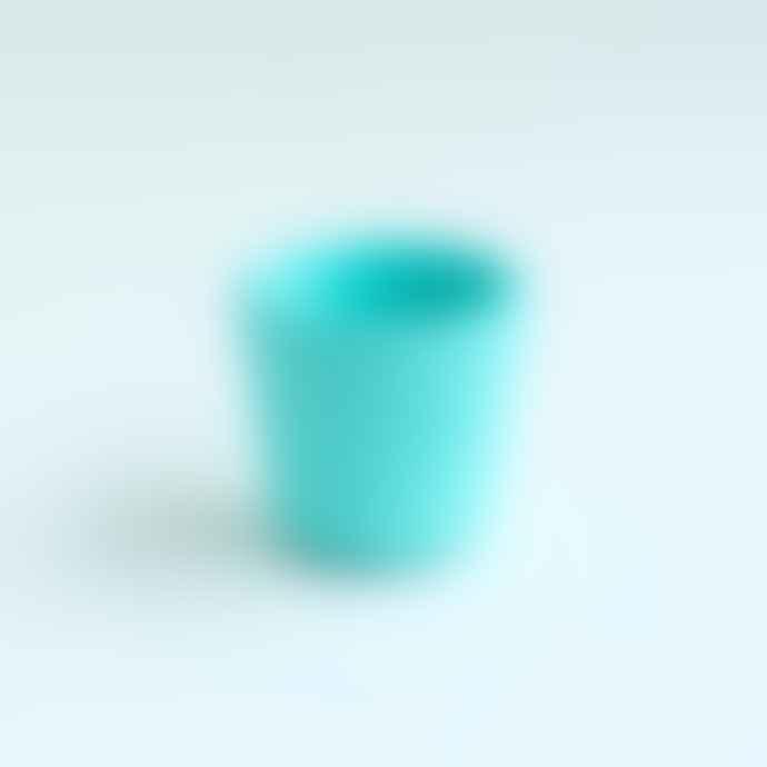 Serax Hand Painted Stoneware Plant Pot Mini Turquoise