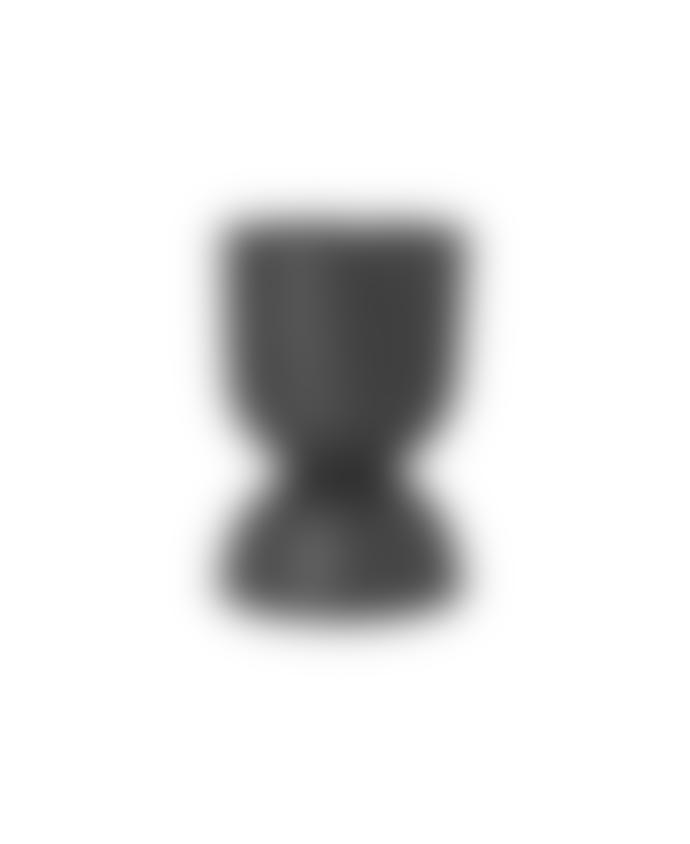 Ferm Living Hourglass Pots Black Dark Grey