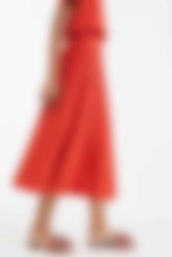 Weekend MaxMara Rust Nichel Viscose Yarn Skirt