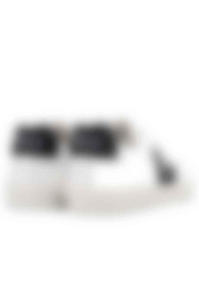Veja Extra White Black Esplar Leather Trainers