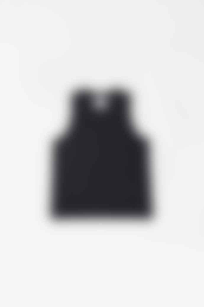 Margaret Howell Vest Heavy Cotton Jersey Black