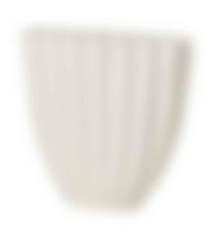 Broste Copenhagen Stoneware Debbie Vase Natural White Small