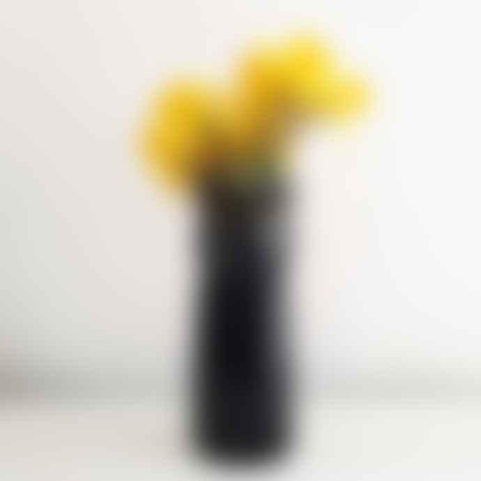Quail Ceramics Black Panther Vase by Quail Ceramics