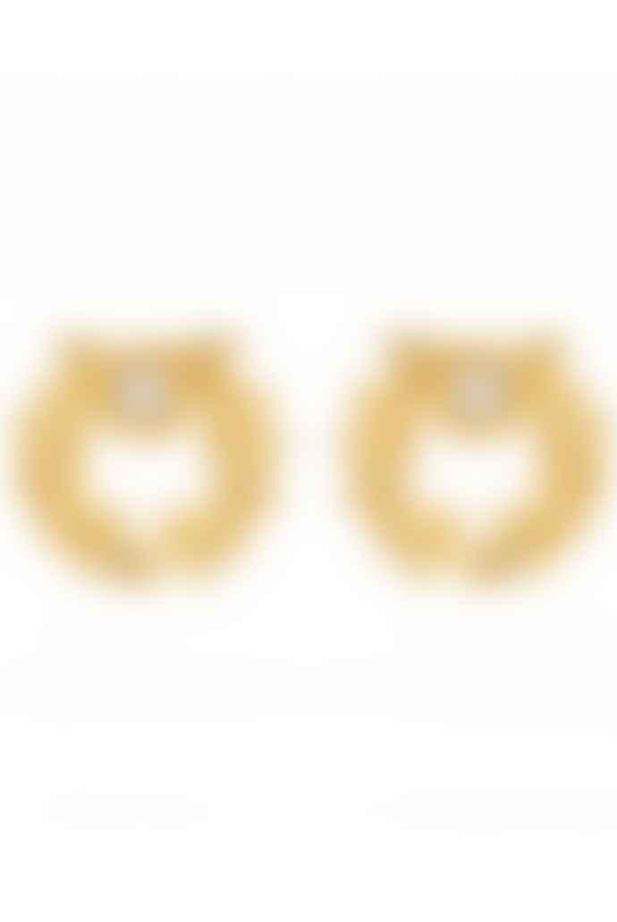Les Nereides Crown of Laurels Stud Earrings