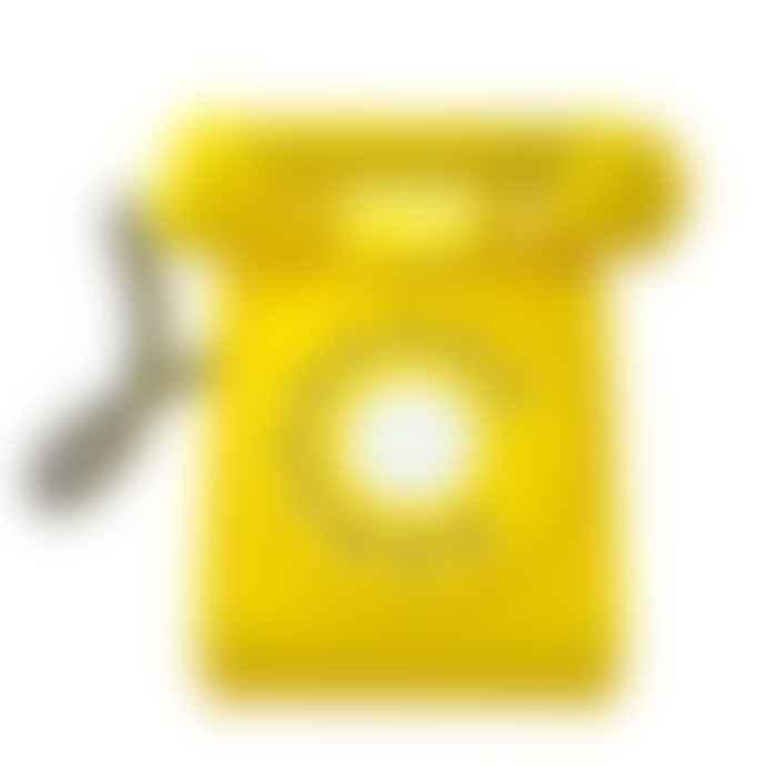 Kiko Wooden Retro Rotary Dial Telephone in Yellow