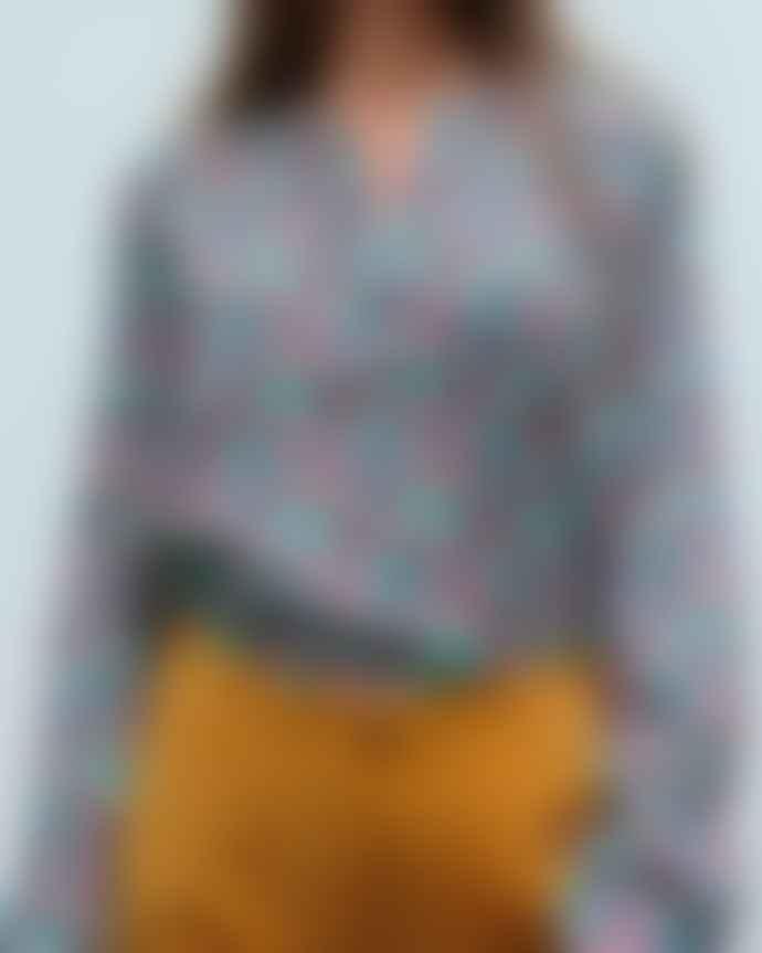 Primrose Park Sandy Open Shirt Multi Cupcake Silk