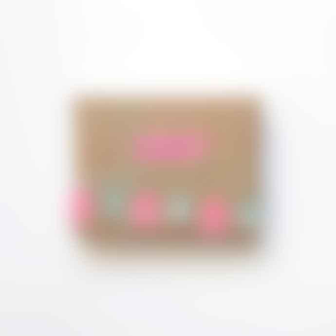 MT masking tape Set Of 4 Peach And Turquoise Washi Masking Tapes