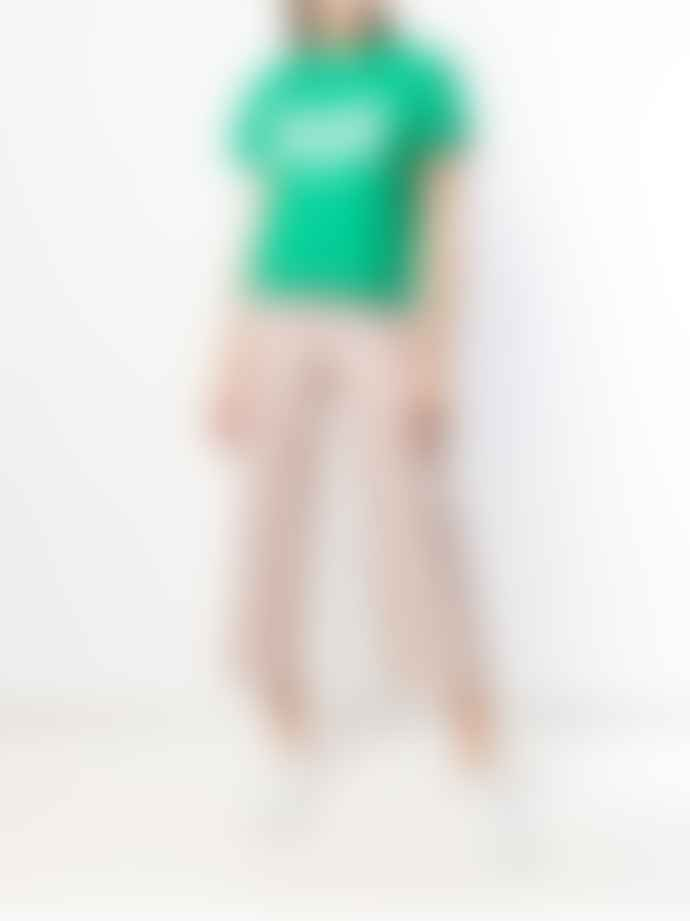 Roseanna  Powder Pink Gang Striped Cropped Pant