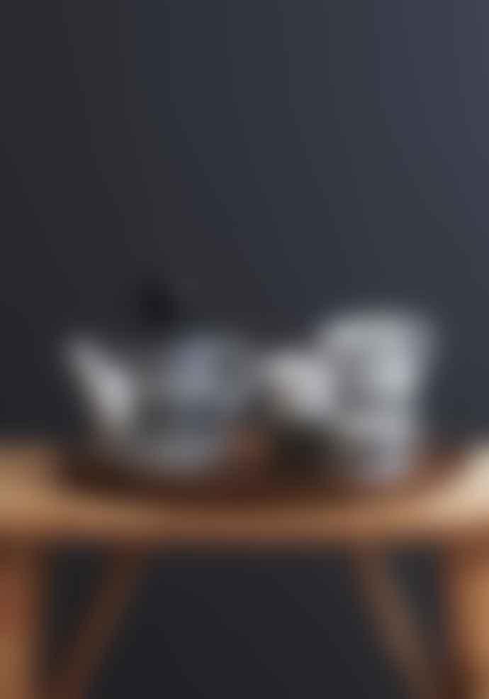 Littlephant Small Black and White Porcelain Net Coffee Mug