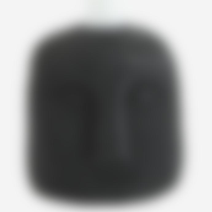 Madam Stoltz Candle Holder With Face Imprint Black