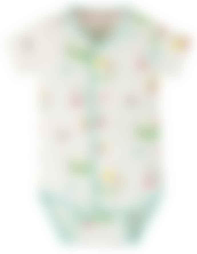 Frugi Island Life Design Short Sleeved Body Suit