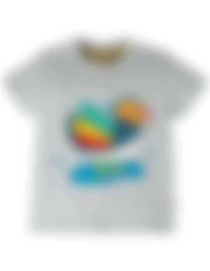 Frugi Gray Duck Short Sleeve Shirt