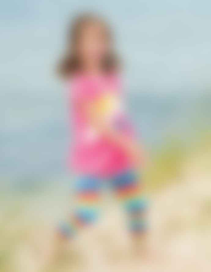 Frugi Flamingo Multi Stripe Leggings